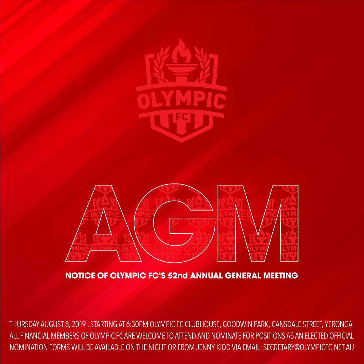 Olympic FC's 52nd Annual General Meeting