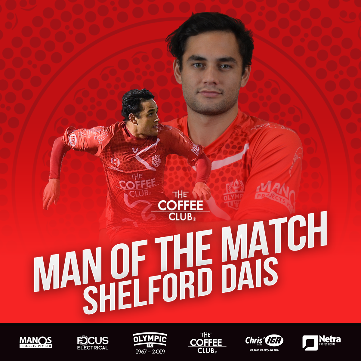 Shelford Dais earns Round 24 Coffee Club Man of the Match