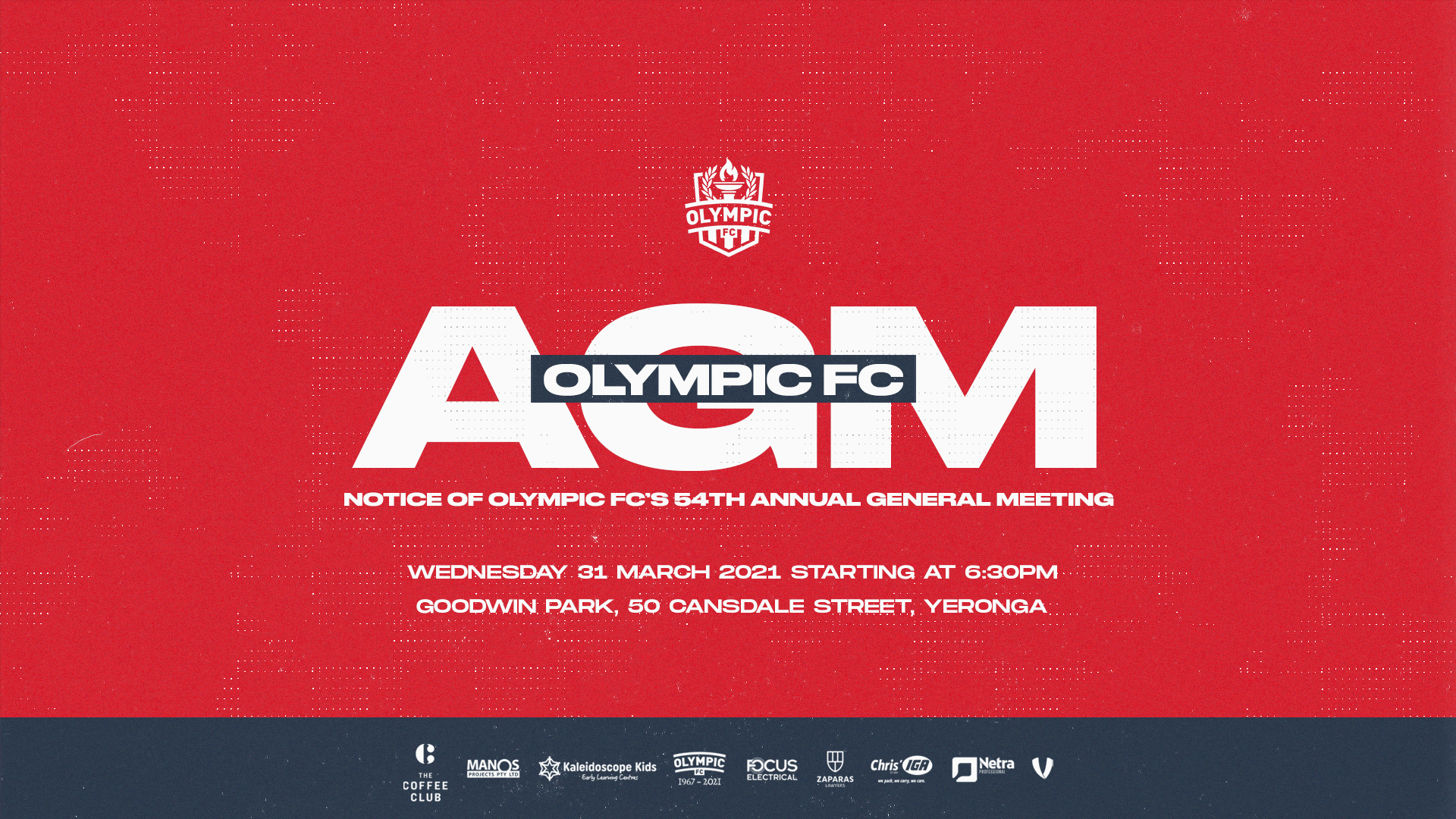 Olympic FC AGM Notice