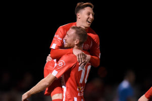 Record-making hat-trick powers Olympic into the FFA Cup Round of 16
